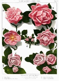 Fabulous ribbon roses