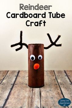 Rudolph the Red-Nosed Reindeer Cardboard Tube Craft - - - What would Santa be without his trusty reindeer? Your children will love to create this easy Reindeer Cardboard Tube Craft of a classic Christmas character. Handmade Christmas Crafts, Christmas Crafts For Adults, Christmas Activities For Kids, Preschool Christmas, Xmas Crafts, Cardboard Tube Crafts, Paper Roll Crafts, Simple Christmas, Christmas Diy