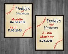 Father's Day Gift. Father's Day Baseball Gift First Father's Day gift Custom personalized Father's Day Grandparents day PRINTABLE decor by Raising3Cains on Etsy
