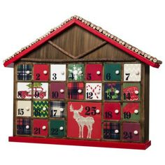 Threshold™ Rustic Advent Calendar - Red
