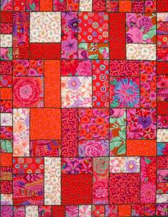 Modern Quilt Patterns | Modern Pop Quilt Pattern SLM-108 (advanced beginner, lap and throw)