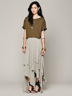 #Free People              #Skirt                    #Free #People #Layered #Convertible #Skirt          Free People Layered Convertible Skirt                                         http://www.seapai.com/product.aspx?PID=1464559