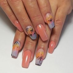 """Tammy Taylor """"At the Sunset"""" Nail Design by Gisela Marti, Tammy Taylor's Creative Director! Find out how to do these incredible nails by going on the Tammy Taylor Nails Pinterest Page and looking under Nail Tutorials! tammytaylornails.com"""