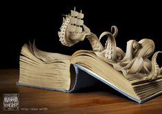 """""""Words Create Worlds""""  Une campagne très réussie pour la boutique de livres Anagram, installée dans la ville de Prague.  Agence Kaspan."""