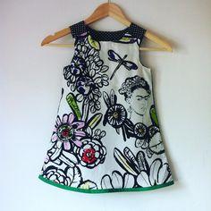 Frida Kahlo-Kleid Schürze Kleid Frida Kunst von AlexasBoutique2013
