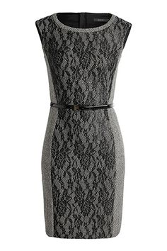 tweed dress with lace