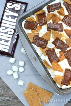Smores Brownies are the most popular recipe on our blog! #Brownies #Smores #Dessert