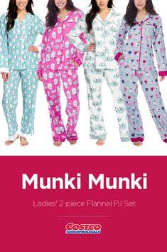 49b3d7b698d8 Munki Munki Ladies  2-piece Flannel PJ Set Pj Sets