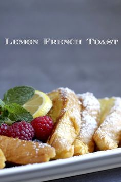 Lemon French ToastNothing like a great breakfast to start your day. This lemon french toast recipe by Createdb What's For Breakfast, Breakfast Dishes, Breakfast Recipes, French Toast, Little Lunch, Lemon Recipes, Yummy Recipes, Healthy Recipes, Brunch Recipes