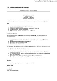 civil engineer technologist resume templates httpwwwresumecareerinfo - Resume Templates For Openoffice