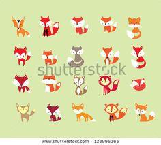 20 fox - stock vector