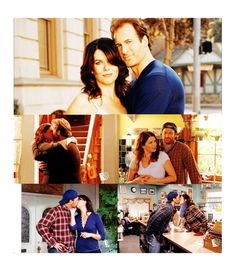 Luke and Lorelai... my favorite couple from the Gilmore girls series.
