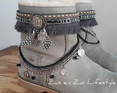 bootbelts coin grijs/zwart/zilver