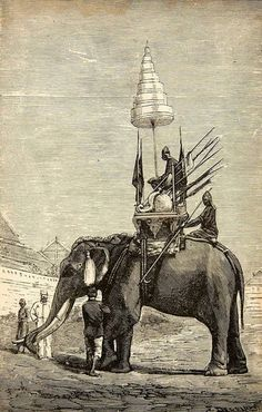 magictransistor:  Siamese War Elephant (Wood engraving), c. 1879.
