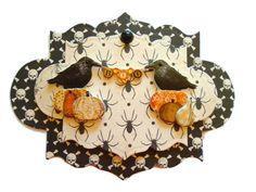 Halloween POE 3D Scrapbook Embellishment Paper by itsmemanon