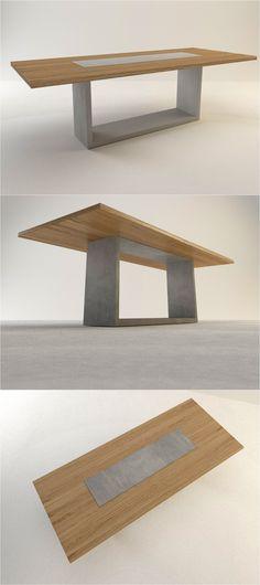 Betontisch ELEVATO dinner table by Arrangio