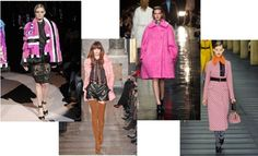 Pink for fall 2013. #runwaytrends #colortrends #pink #fashion #style #fall2013