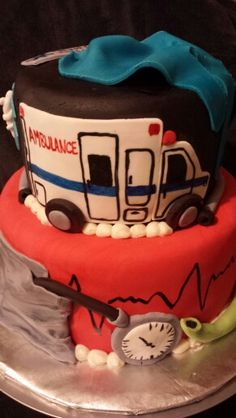 Paramedic Cake by Sweet Tooth Mother and Daughter Cakes by LaKeisha Keck.