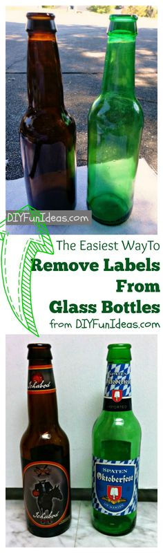 The EASIEST WAY TO REMOVE LABELS from glass bottles!!! No scraping and the labels come right off!