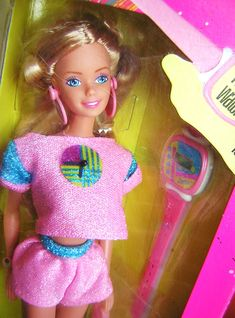 This cool 80s Barbie came with a watch!