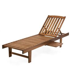 Cheaper at Just Cabinets - $169.00 Eucalyptus Chaise Lounge | Outdoor Furniture | Plow & Hearth