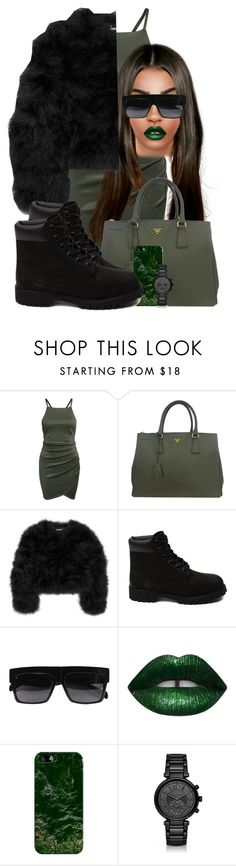 """""""Happy st. Patrick's day"""" by chiamaka-ikaraoha ❤ liked on Polyvore featuring Prada, Diane Von Furstenberg, Timberland, Casetify and Michael Kors"""