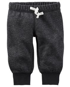 Baby Boy Pull-On French Terry Fleece Pants | Carters.com