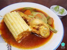 Receta de Mole de olla de pollo #RecetasGratis #RecetasMexicanas #ComidaMexicana #CocinaMexicana #MoledeOlla #Pollo #Sopa
