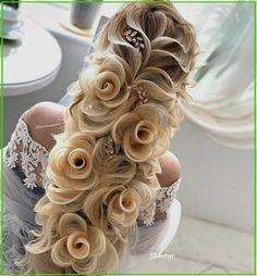 Braided Bun Hairstyles, Easy Hairstyles, Hair Updo, Gorgeous Hairstyles, Winter Hairstyles, Hairstyle Ideas, Wedding Hairstyles For Long Hair, Hair Wedding, Hairstyle Wedding