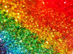 that the beautiful sparkle (probably Mica) that would relate to primitive glitter was found on cave paintings and used by ancient civilizations. Love Rainbow, Taste The Rainbow, Over The Rainbow, Rainbow Colors, Rainbow Things, Crazy Colour, Color Of Life, Glitter Bomb, Glitter Flats