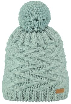 fad0e3729807e The Barts Dave beanie has a zigzag knitted cable pattern and a warm fleece  lining.