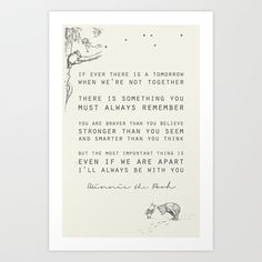 Winnie the Pooh Art Print by Zeke Tucker - $17.68 this belongs in every home. when I have children, they will each have a copy