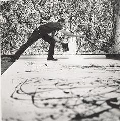 Hans Namuth, Jackson Pollock en el trabajo en el año 1950. Foto: © 1991 Cortesía Hans Namuth Estate Center for Creative Photography, la Universidad de Arizona.