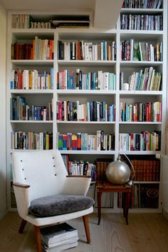 A chic reading nook