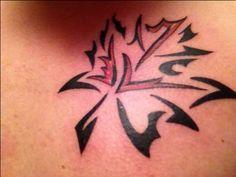 Tribal Maple Leaf Tattoo