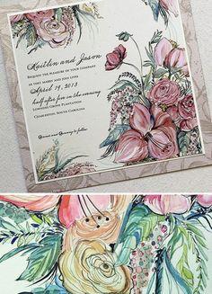 #watercolor #weddinginvitations