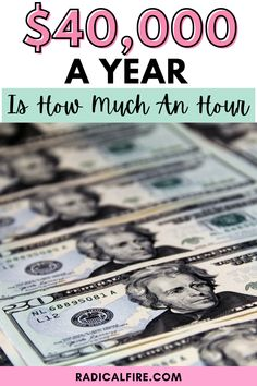 Do you know how much you earn in a year? If you are earning $40,000 a year, is it enough? Can you live off this? Let's find out $40,000 a year is how much an hour. Financial Peace, Financial Goals, Wealth Management, Money Management, Financial Planning For Couples, Dividend Investing, Creating Wealth, Finance Organization, Earn More Money