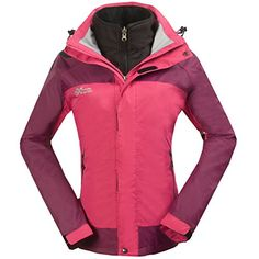 XMountain Spirit Womens 3in1 Water Resistant Breathable Ladies Warm Jacket Small Pink ** Check out this great product.