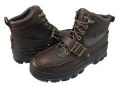 Polo Ralph Lauren Mens Heworth Brown Casual Buckle Boots 8.5