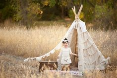 Ruffled teepee?  Yes, I'll take one, please!  What a wonderful photoshoot idea!