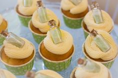 Our Tinkerbell Pixie Dust Cupcakes. Neverland Birthday Party. Peter Pan.