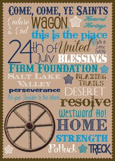 """Utah State Holiday of July """"Pioneer Day"""" Printable Pioneer Day Crafts, Pioneer Day Activities, Mormon Pioneers, Pioneer Trek, State Holidays, Primary Activities, Lds Primary, Singing Time, Visiting Teaching"""