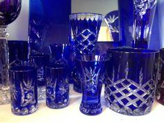 Vintage Blue Polish Glass