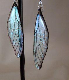 Fairy Wing Resin Earrings - pinned by pin4etsy.com