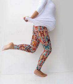 Fashion Maternity Aztec  Print  Leggings Over Bump by MiaMaternity, $37.00
