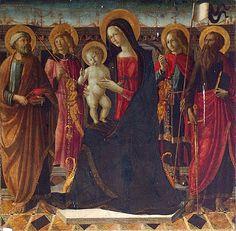 Neroccio di Bartolomeo Landi pala Montisi. Neroccio di Bartolomeo de' Landi - Pala d'altare - Pieve della Santissima Annunziata - Montisi (SI)
