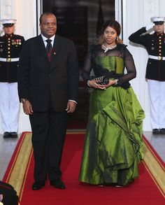 The King of Swaziland and one of his wives, Inkhosikati La Mbikiza arrive at the White House for a State Dinner on the occasion of the U. Africa Leaders Summit in Washington, DC. Black Art, Black Love, All About Africa, African Princess, Tribal Warrior, Black Royalty, African Royalty, We The Kings, Warrior King