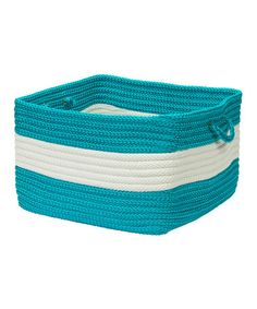 Take a look at this Turquoise Rope Walk Utility Basket by Colonial Mills on #zulily today!