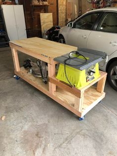 Diy Wooden Projects, Woodworking Projects For Kids, Woodworking Projects Diy, Wooden Diy, Woodworking Jig Plans, Woodworking Shop Layout, Workbench Plans, Workshop Bench, Diy Workshop