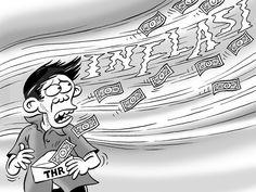 Kartun Benny, Kontan - Juli 2015: Inflasi Sedot THR